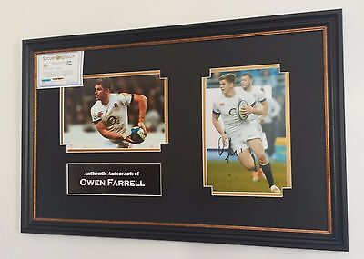 ** Autographed Owen Farrell SIGNED PHOTO PICTURE Display **