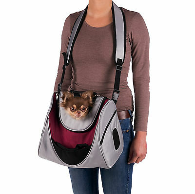 Dog & Cat Mitch Front Carrier padded bottom plate in lamb fur look, up to: 5 kg