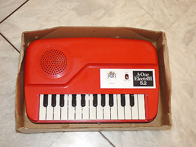VINTAGE A-ONE ELECTRON S.2 MINI ORGAN 70s MADE IN JAPAN VERY RARE!!