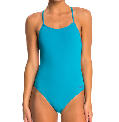7de9e20040 Speedo The One Back Solid Endurance Lite One Piece Swimsuit Tropical Teal