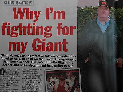 SCARCE MAG - 1990's - GIANT HAYSTACKS Interview