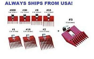 SPEED O GUIDE Universal Clipper Comb Attachments All 8 Size Set-Fits Most Brands