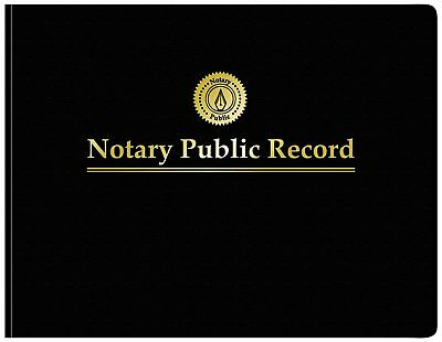 Adams Notary Public Record Journal, 11 x 8.5 Inches, 6 Entries Per Page, 63 Per