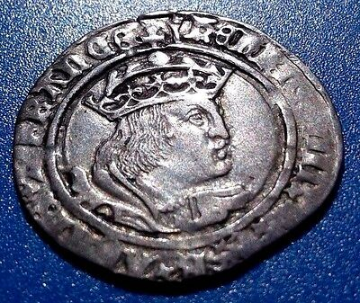 King Henry VIII. Rare Silver Groat 1526-1547 England. Exquisite Coin.