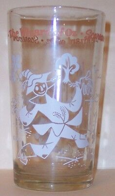 Vintage Wizard Of Oz Peanut Butter Glass - Scarecrow