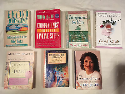 Lot MELODY BEATTIE Codependent BEYOND 12 steps GRIEF CLUB Lessons Love JOURNEY