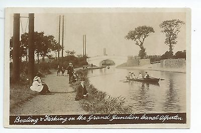 R/p postcard of the boating & Fishing at Alperton Canal  Brent  London in vgc