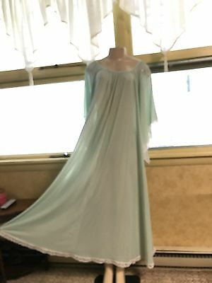 Vintage Claire Sandra By Lucie Ann Nylon Nightgown Full Sweep Sz Small