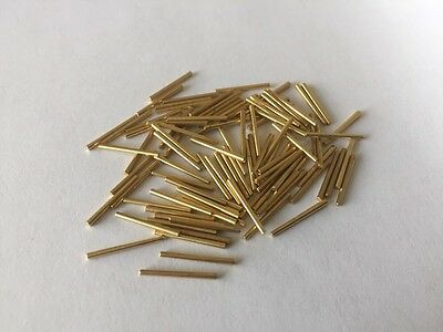 Clock Pins Brass 6 14mm  X100 Pack