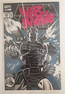 IRON MAN # 282 , MARVEL COMICS 1st WAR MACHINE  APP - Signed Kevin Hopgood VFN