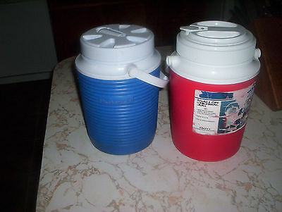 Two One Gallon Thermos.s,,,rubbermaid And Gott