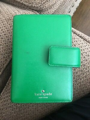 Kate Spade Green Leather Planner/Personal Agenda/Snap Closure