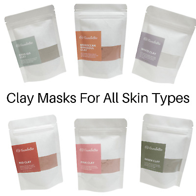 Natural Clay Powder White Red Rhassoull Green Pink Masks Facial Body Mud Wrap