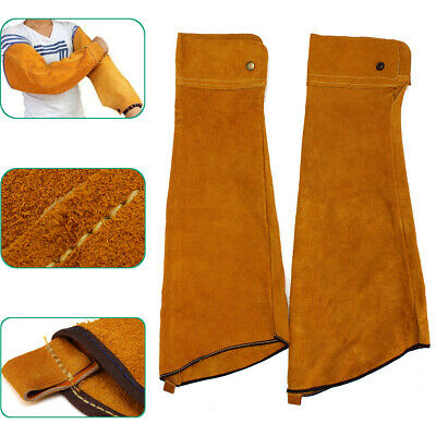 [NEW] 2pcs 23.6inch Cowhide Split Leather Welding Sleeves Protective Heat Arm Sl