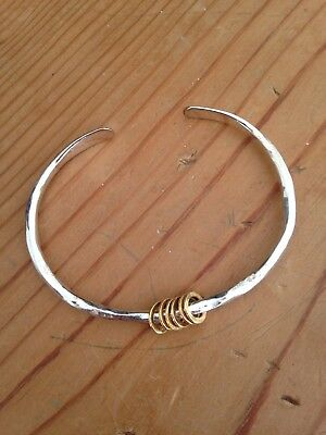Maya Magal Spinning Bangle Sterling Silver & Gold Plate