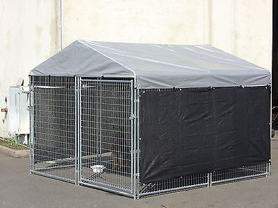 """130"""" x 60"""" Heavy Duty Dog Cat Cage House Kennel Cover Pet Outdoor Shelter Shade"""