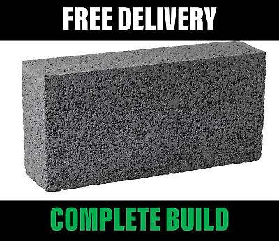 Concrete Dense Blocks 100mm 7.3N (7.2m2 per Pack) 1 Pack - FREE Delivery Reduced