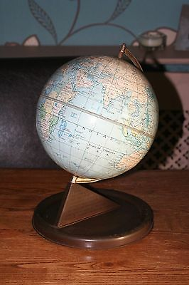 Vintage Chad Valley tin / pressed steel globe - 1950s