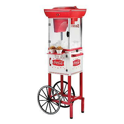 Snow Cone Machine Cart Shaved Maker Vintage Electric Stand Tall Coca Cola Retro