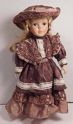 Ashley Belle Fine Bisque Porcelain Doll 'Bertha' Hand-crafted with Stand