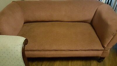 Antique Victorian sofa chaise lounge