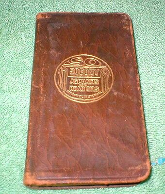 Socony Pocket Note Book With Asphalt & Road Oil Facts And Figures 1926 1927