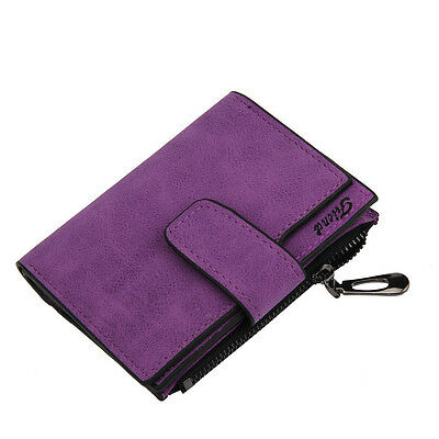 Women Mini Grind Magic Bifold Leather Wallet Card Holder Wallet Purse PP