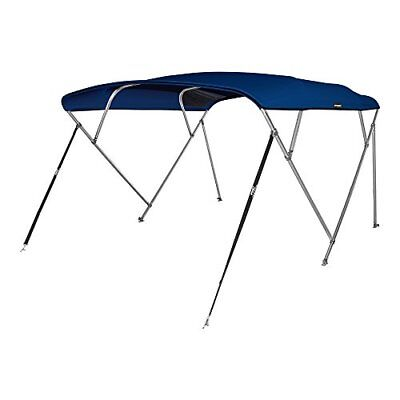 """MSC 4 Bow Bimini Boat Top Cover with Rear Support Pole Storage Boot Navy 54"""" H"""