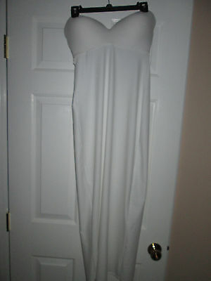David's Bridal Wedding/Formal Gown Long Strapless Size 36D Bra Slip Style 1123