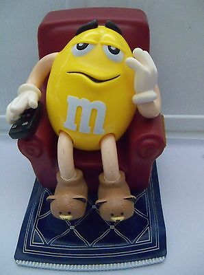 M&M Yellow Character in Recliner Chair candy Dispenser
