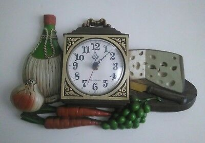 "1972 Vintage ""New Haven"" Burwood Product Food Wall Clock Battery Operated Works"