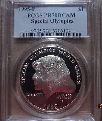 1995 P $1 Special Olympics Silver Commemorative Dollar PR70 DCAM PCGS Certified