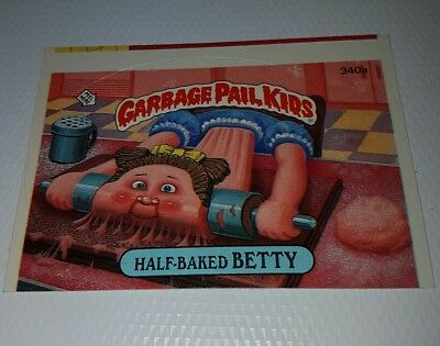 Garbage Pail Kids US Series 9 340a Half Baked Betty Miscut Error