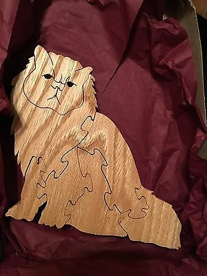 Homemade Wooden Cat Puzzle