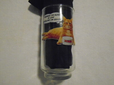 Morris the Cat  Vintage 9 Lives Promo 12 oz Glass Sterling Silver