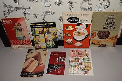 7 pc Lot Vintage Cookbooks Booklets Recipes Cooking Books Advertising Cookbook