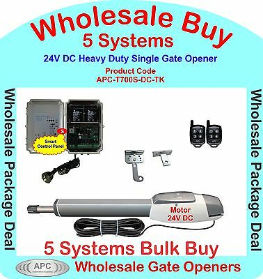 Bulk Buy of 5 x 24V Heavy Duty Single Linear Actuator Gate Automation Systems