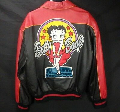 Leather Betty Boop Jacket Vintage 1994 Ultra Rare 100% Stitched Maziar Medium