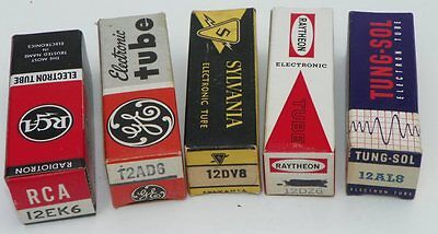 Nos 1958-1962 Corvette Wonderbar Radio Tube Set, 1959,1960,1961 Vette