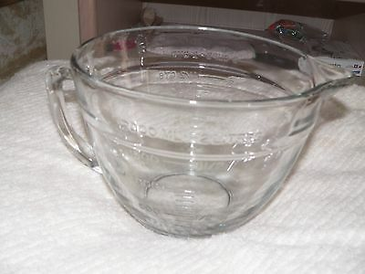 Anchor Hocking Glass Measuring Cup Bowl Large 8 Cups Excellent