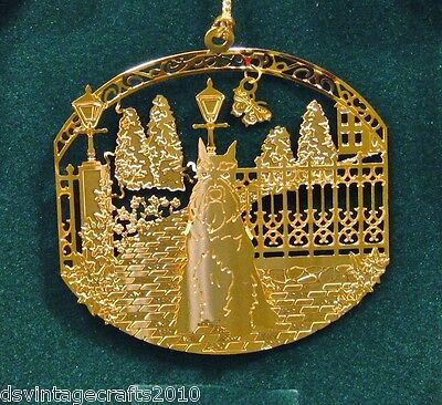 Schnauzer 24k Gold Plated Ornament New By Kingsheart Forge