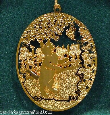 Kitten 24k Gold Plated Ornament New By Kingsheart Forge