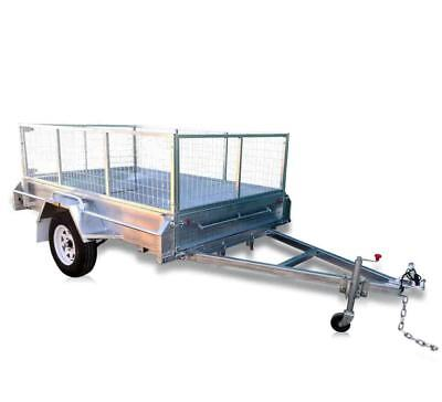 FULLY WELDED GALVANISED 7X4 BOX TRAILER WITH 600MM CAGE Brisbane North