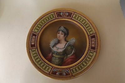Antique French 19th Century Haviland Limoges Portrait Plate with Josephine