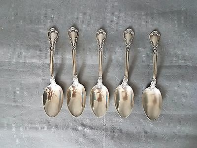 Sterling Silver Serving Spoons Gorham Chantilly-Pat 1895 lot of 5