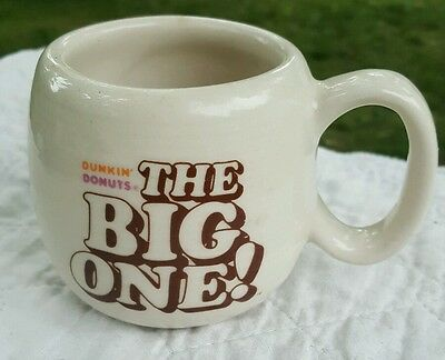 Vintage Dunkin' Donuts The Big One! Restaurant Coffee Mug Cup Nice Condition