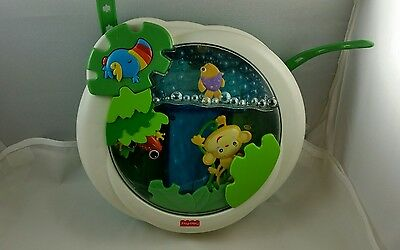 #A# Fisher Price Rainforest Baby Crib Soothing Music Jungle Waterfall 2006