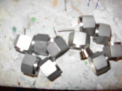 Swagelock SS- 10 ( TEN ) 1/2in. nuts and 2 piece ferrules....new