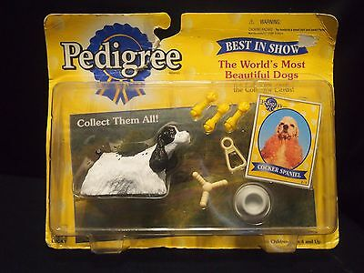 1998 Pedigree Best In Show Cocker Spaniel Figure & Collector Card ~ New