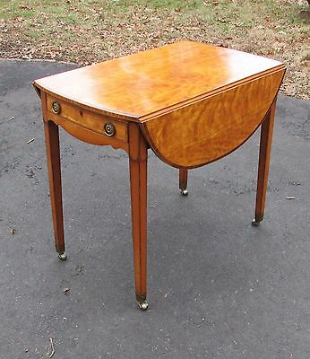 Small Antique English Satinwood Drop Leaf Table